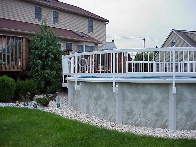 Economy Resin Pool Fence System Vinyl Works Canada