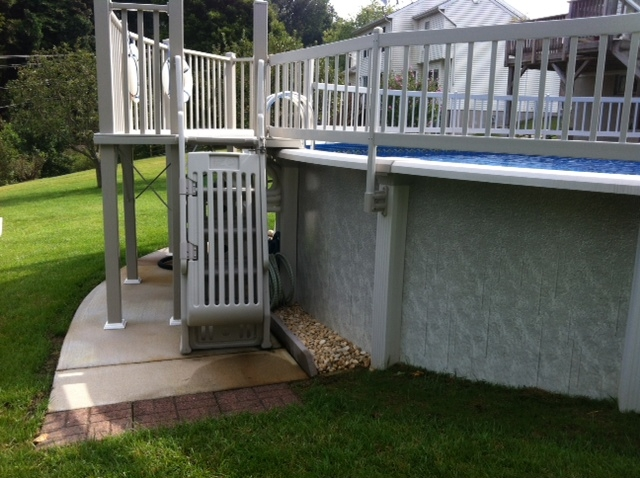 Premium Resin Pool Fence System Vinyl Works Canada